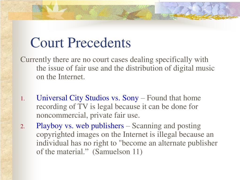 Court Precedents