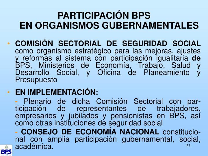 PARTICIPACIÓN BPS