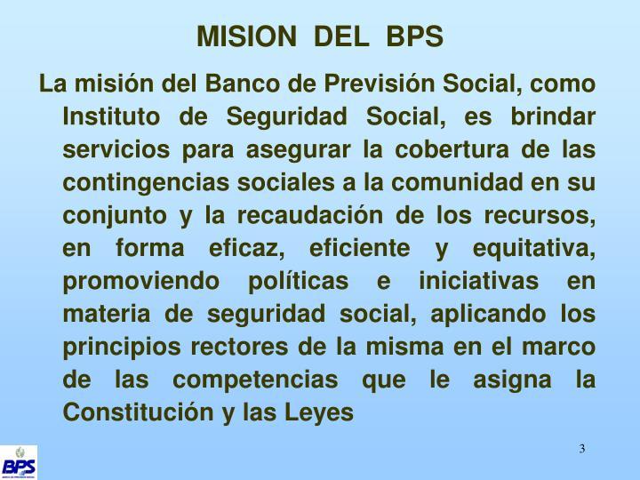 MISION  DEL  BPS