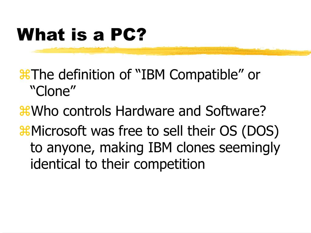 What is a PC?