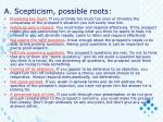 a scepticism possible roots