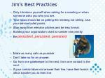 jim s best practices