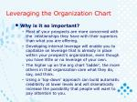 leveraging the organization chart