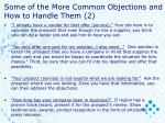 some of the more common objections and how to handle them 2