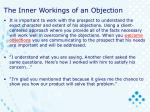 the inner workings of an objection