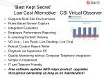 best kept secret low cost alternative csi virtual observer