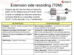 extension side recording tdm
