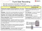 trunk side recording