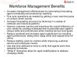 workforce management benefits