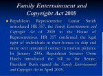 family entertainment and copyright act 2005