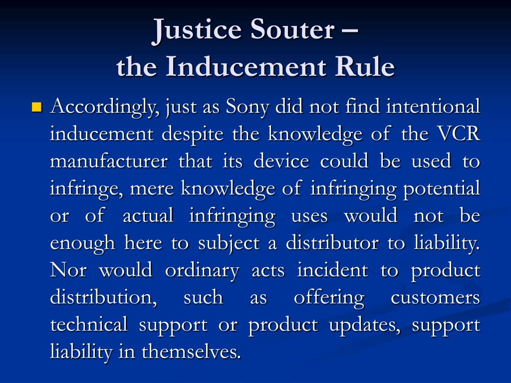 Justice Souter –