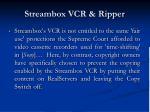 streambox vcr ripper