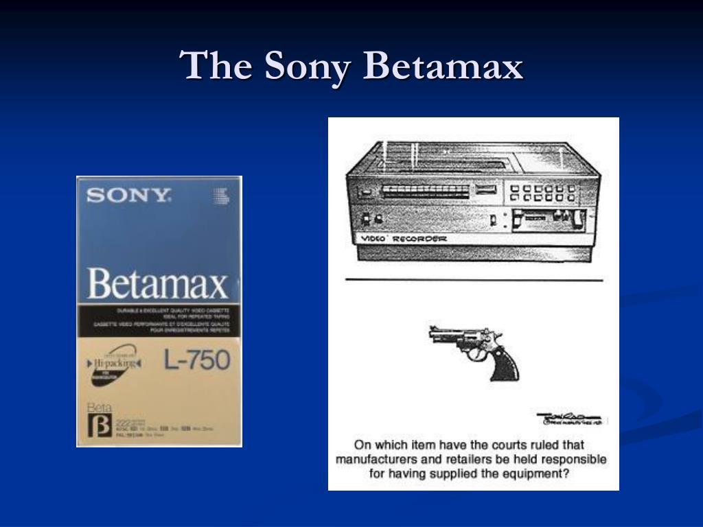 The Sony Betamax