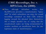 umg recordings inc v mp3 com inc 2000