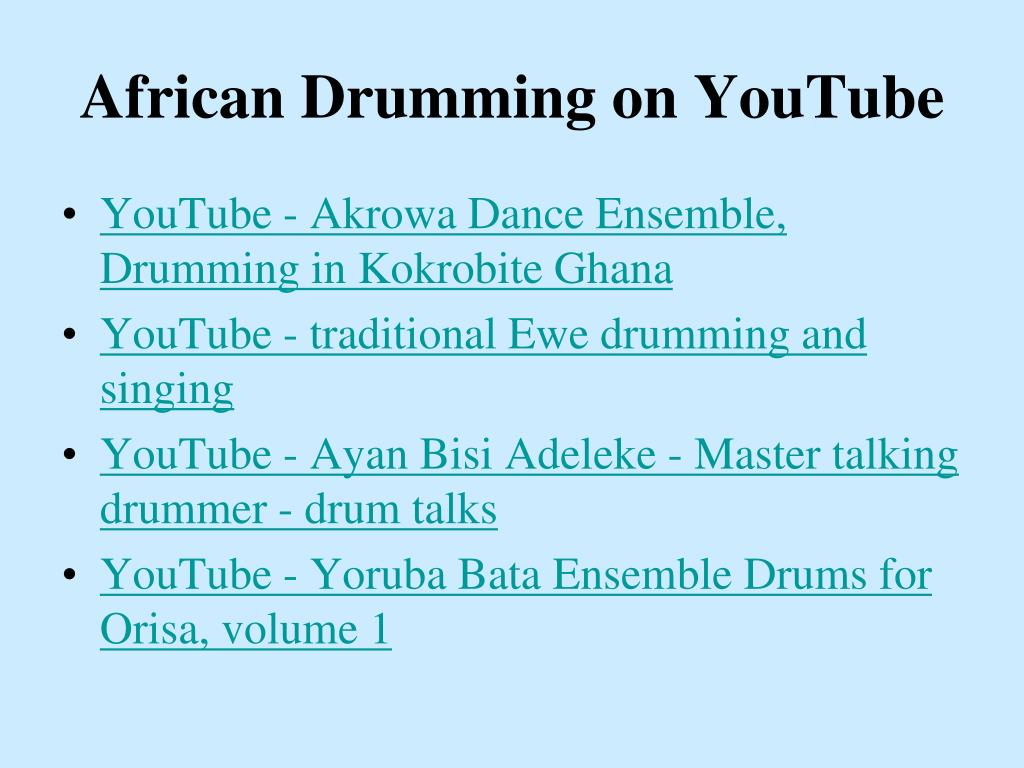 African Drumming on YouTube