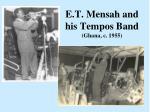 e t mensah and his tempos band ghana c 1955