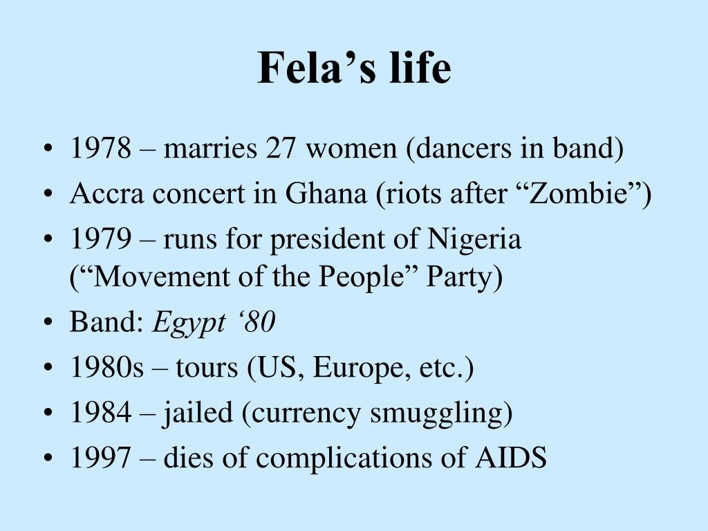 Fela's life