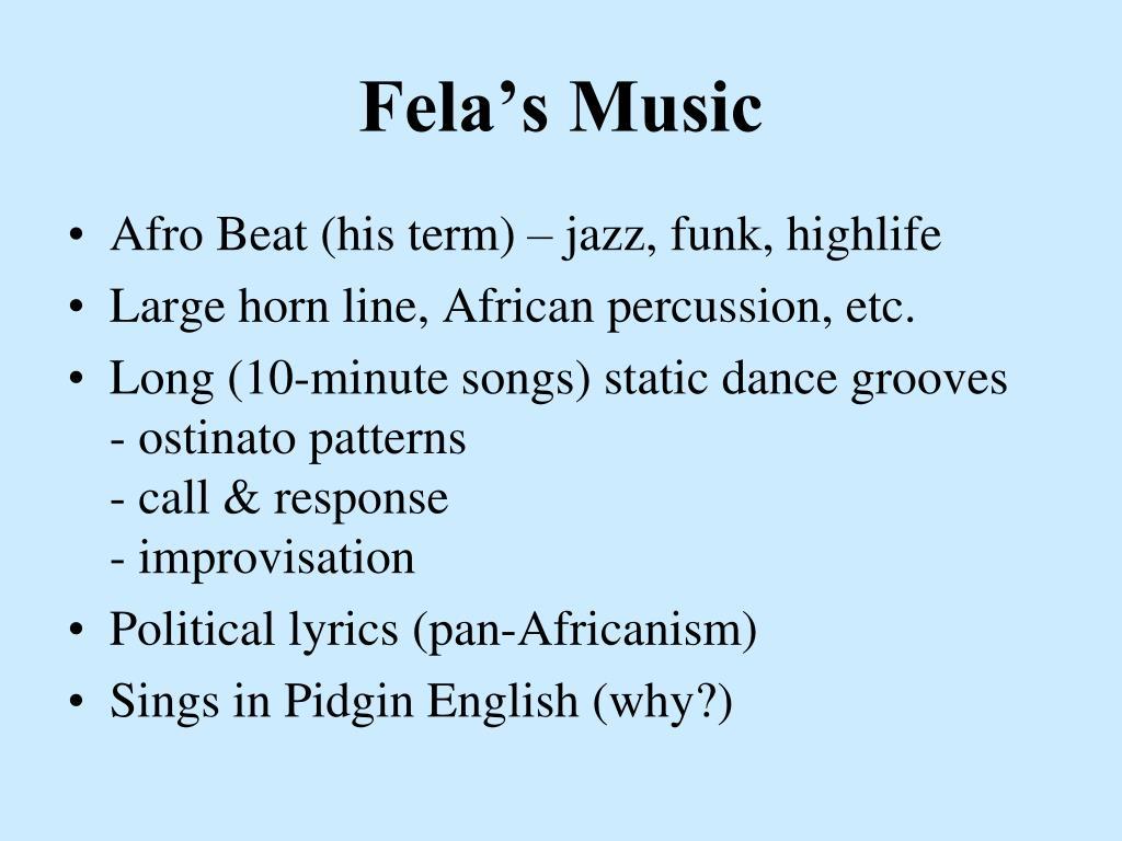 Fela's Music