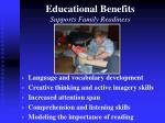 educational benefits supports family readiness