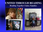 united through reading reading together unites families