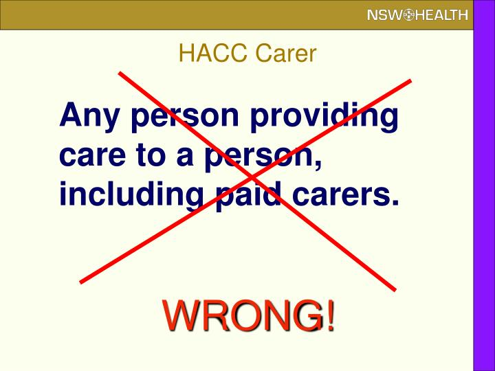 HACC Carer