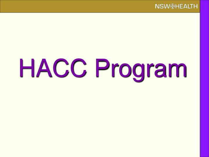 HACC Program