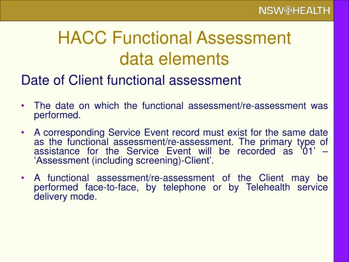 HACC Functional Assessment