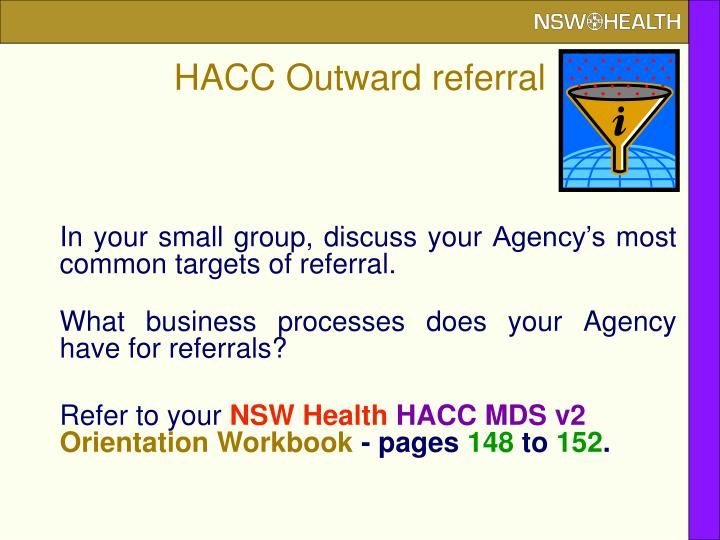 HACC Outward referral