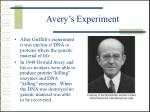 avery s experiment