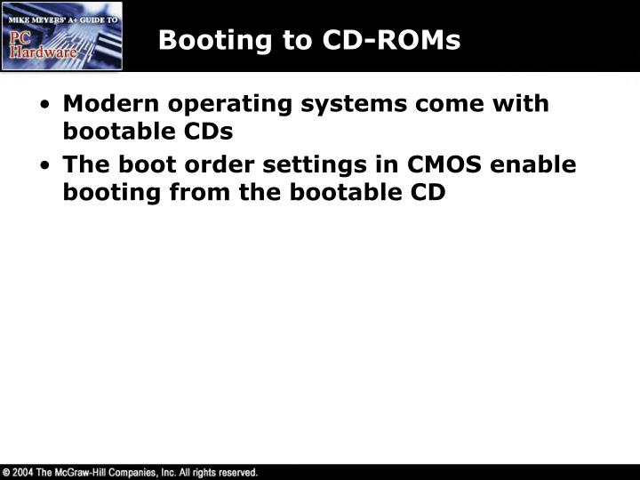 Booting to CD-ROMs