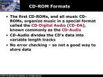 cd rom formats
