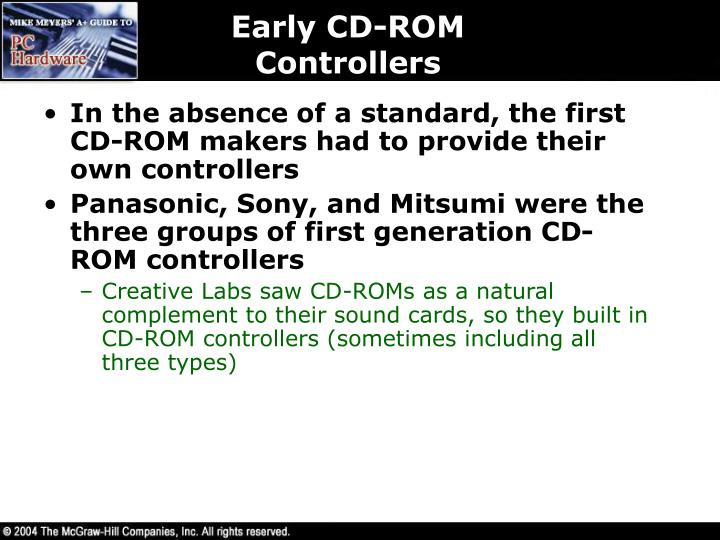 Early CD-ROM Controllers
