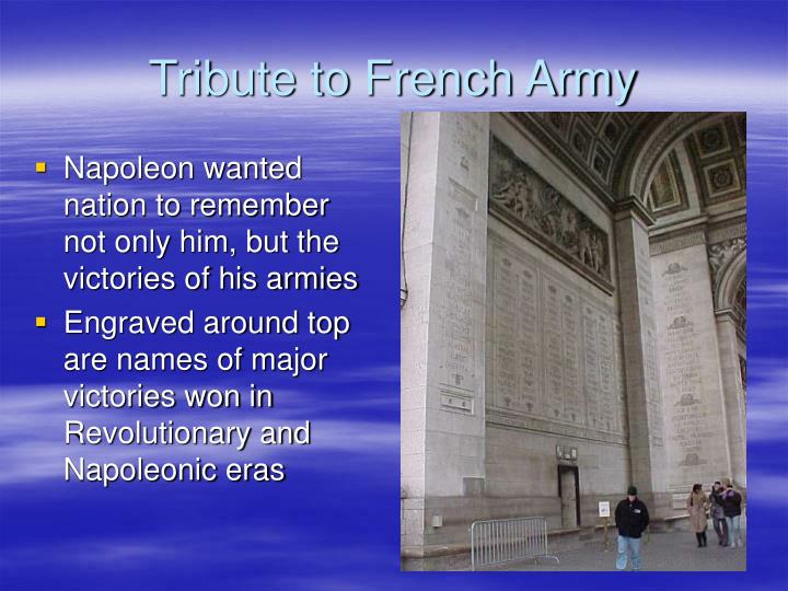 Tribute to french army