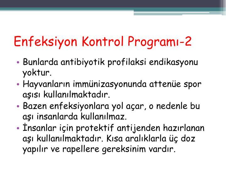 Enfeksiyon Kontrol Programı-2