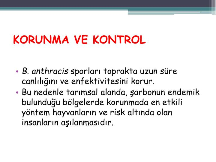 KORUNMA VE KONTROL