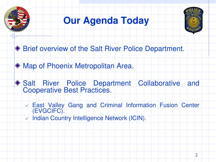 Our agenda today