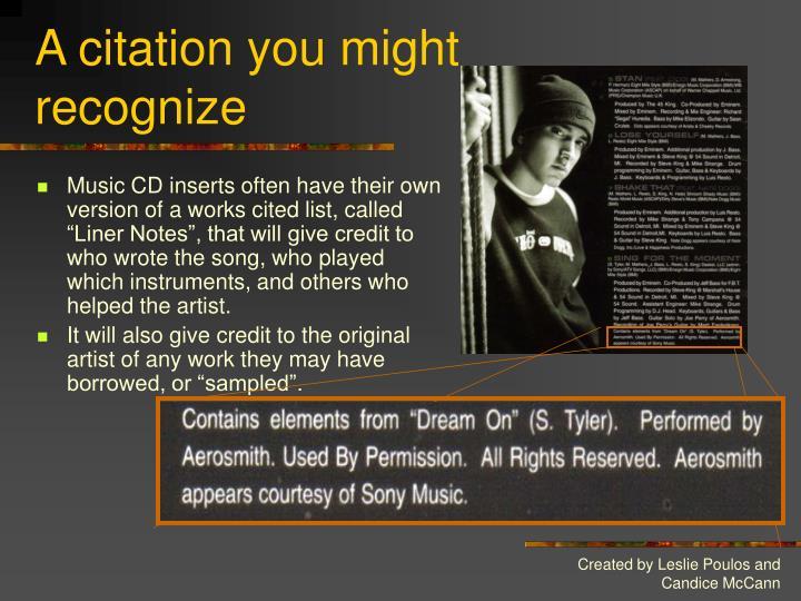 A citation you might recognize