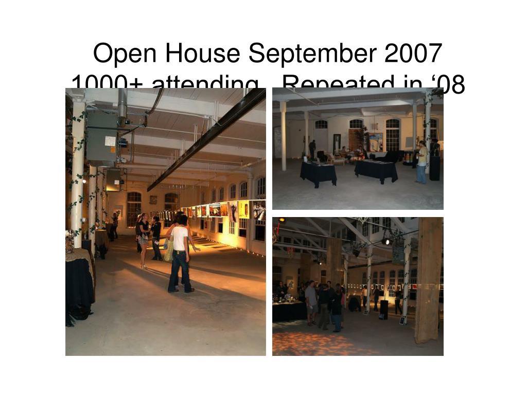 Open House September 2007