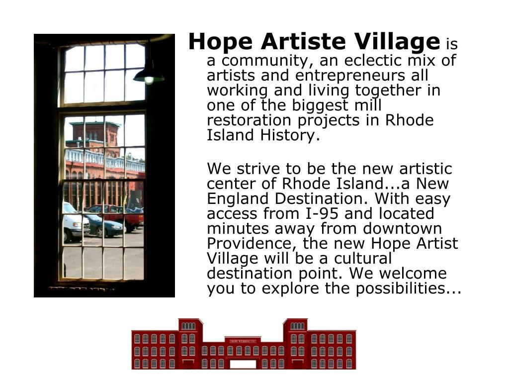 Hope Artiste Village