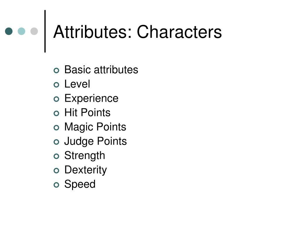 Attributes: Characters