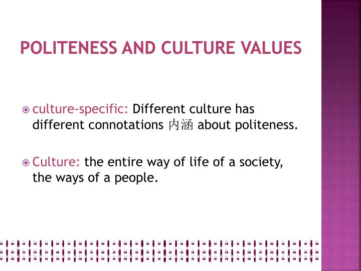 politeness and culture