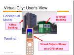 virtual city user s view