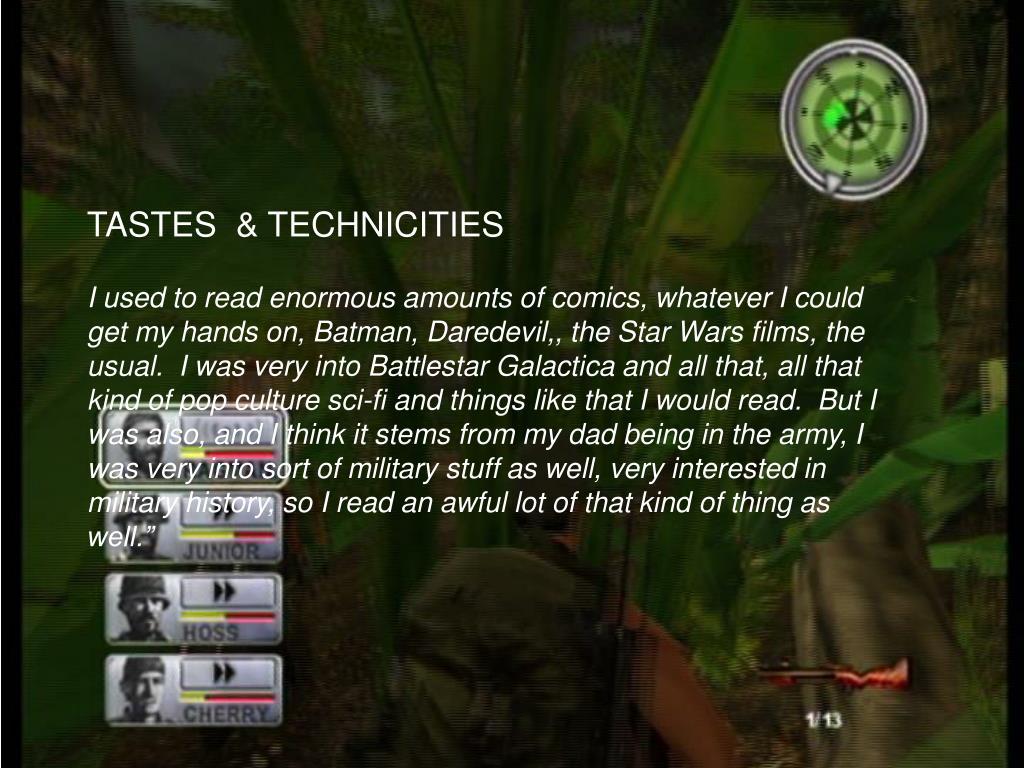 TASTES  & TECHNICITIES