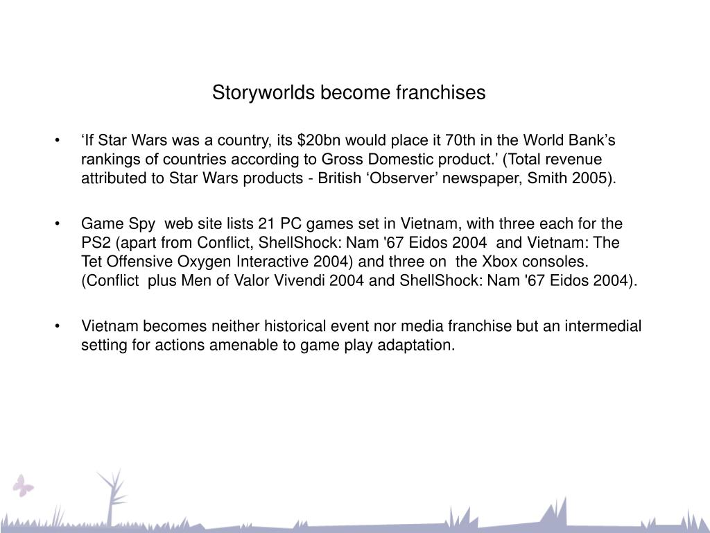 Storyworlds become franchises