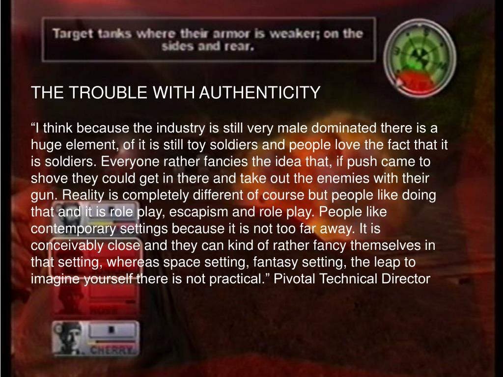 THE TROUBLE WITH AUTHENTICITY
