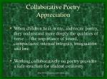 collaborative poetry appreciation