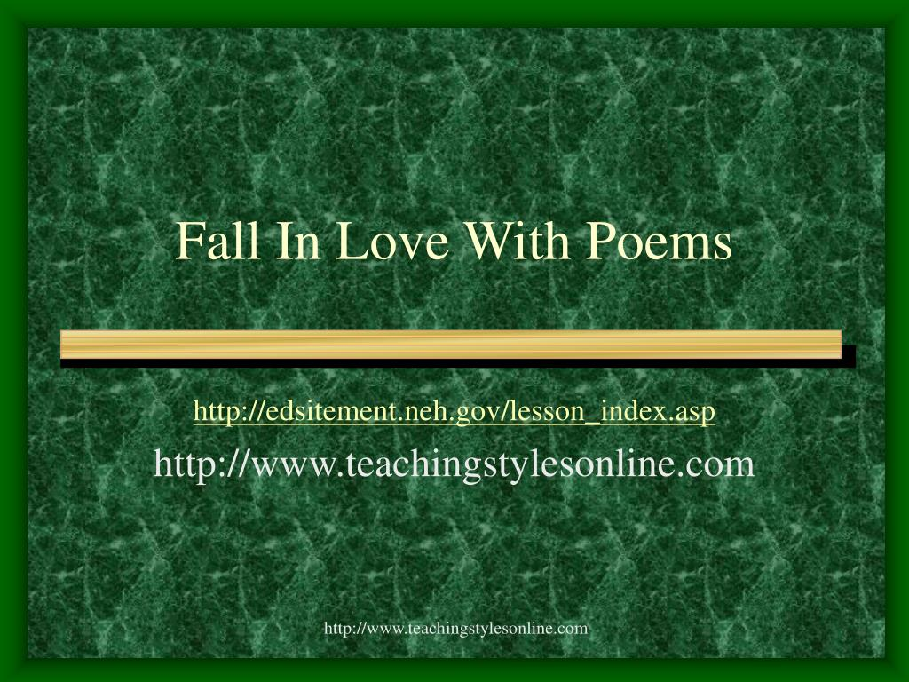 fall in love with poems l.