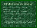 introduce simile and metaphor