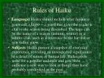 rules of haiku49