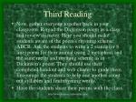 third reading